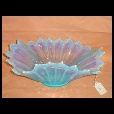 Fostoria Blue Opalescent Heirloom Flared Centerpiece Bowl