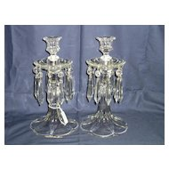 Pair Duncan Miller Canterbury No. 65 Single Light Candelabras