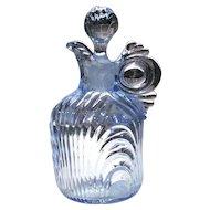"""Cambridge Glass Moonlight Blue Caprice #3550 - 6"""" - #100 - 5 Ounce Cruet"""