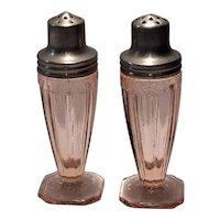 Jeannette Glass Co. Pink Adam Salt & Pepper Shaker Set