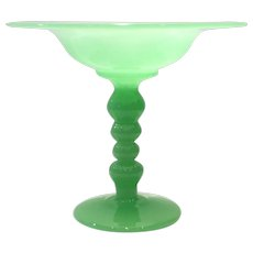 Fenton Jade Green # 1536 Footed Compote