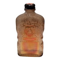 Jackman Marigold Carnival Whiskey Flask (Maker Unknown)