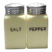 McKee Seville Yellow Square Salt & Pepper Set