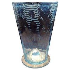 Libbey Nash Turquoise K-559 Vase