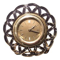 Imperial Crystal Laced Edge Clock