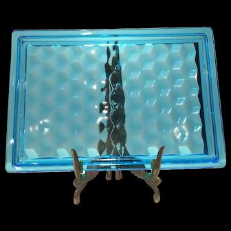Fostoria Blue American Dresser Tray