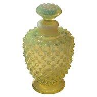 Fenton Topaz Opalescent Hobnail No. 3865 Vanity (Cologne/Perfume) Bottle