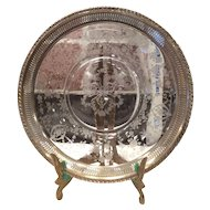Cambridge Crystal Diane Plate with Sterling Silver applied Rim
