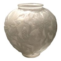 Consolidated White Wash Colored Pine Cone Vase by Reuben Haley