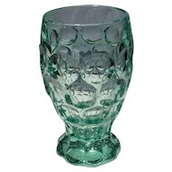 Heisey Zircon (Blue-Green) Whirlpool No. 1506 Footed 9 Ounce Tumbler