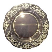 "Fostoria Crystal Navarre Etch #327 - 8.5"" Luncheon Plate Set (12)"