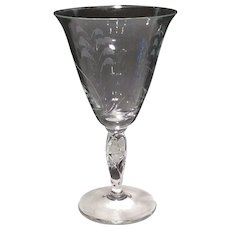 "Duncan Miller Crystal ""Lily of the Valley"" Cut 8 ounce Goblet"