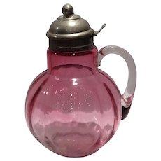 Hobbs, Brockunier Rubina Glass Syrup