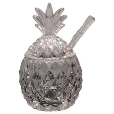 Heisey Crystal Plantation Marmalade with Mayo Ladle