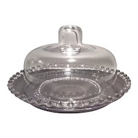 Imperial Crystal Candlewick #400/123 Covered Toast or Butter