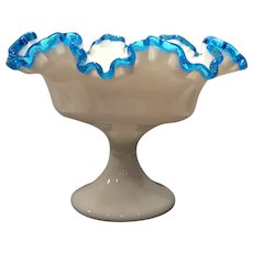 Fenton Blue Crest No. 7429 Footed Comport