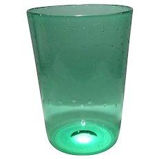 Steuben Pomona Green Pattern Shape No. 6053 Bubble Optic Vase