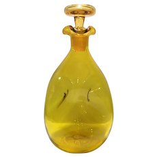 Blenko #49 Chartreuse Pinched Decanter with Stopper