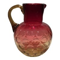 "Phoenix Ruby Die-Away to Amber Spot Optic 8.5"" Pitcher"