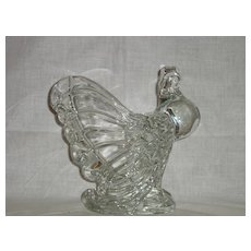 Heisey Glass Animal Crystal Rooster Vase