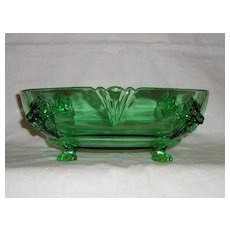 Heisey Empress Lion Footed Bowl in Moongleam