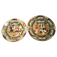 "Buffalo Pottery 2-Piece Set of Plates - 8-1/4"" & 9-1/2"""