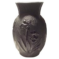"""Cambridge Ebony & Ebon #1251 Springtime Pattern 8"""" Vase"""