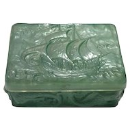Consolidated Green Wash Santa Maria Covered Cigarette Box