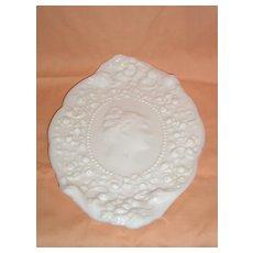 Fostoria Jenny Lind Milk Glass Dresser Tray