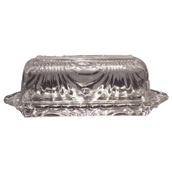 Cambridge Crystal Caprice #52 Quarter Pound Butter with Cover