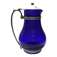 McKee Cobalt Blue Batter Jug or Covered Pitcher