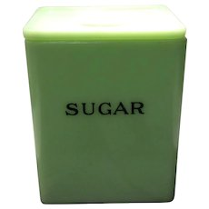 Jeannette Jadite 48 Ounce Square Sugar Canister
