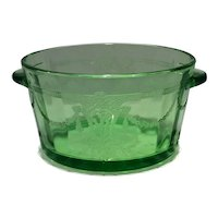 Hocking Green Cameo, Dancing Girl or Ballerina Pattern Ice Bowl