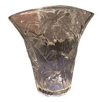 Consolidated Crystal #2694-8 Katydid Flared Vase