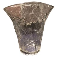 Consolidated Crystal #2694-8 Katydid Flared Vase