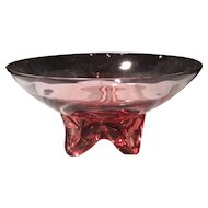"Tiffin Wistaria #17430 Flared 8"" Gardenia Centerpiece Bowl"