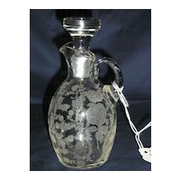 Cambridge Roselyn Etched Cruet & Stopper