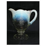 Northwood Opalescent Intaglio Pitcher / Jug