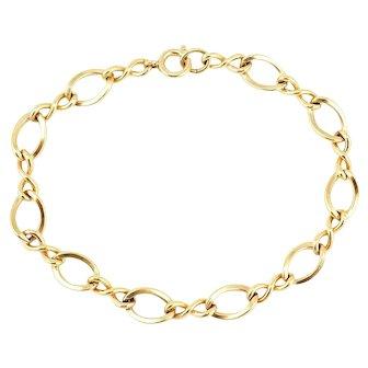 Vintage NOS 12K Gold Filled Twist Link Charm Bracelet