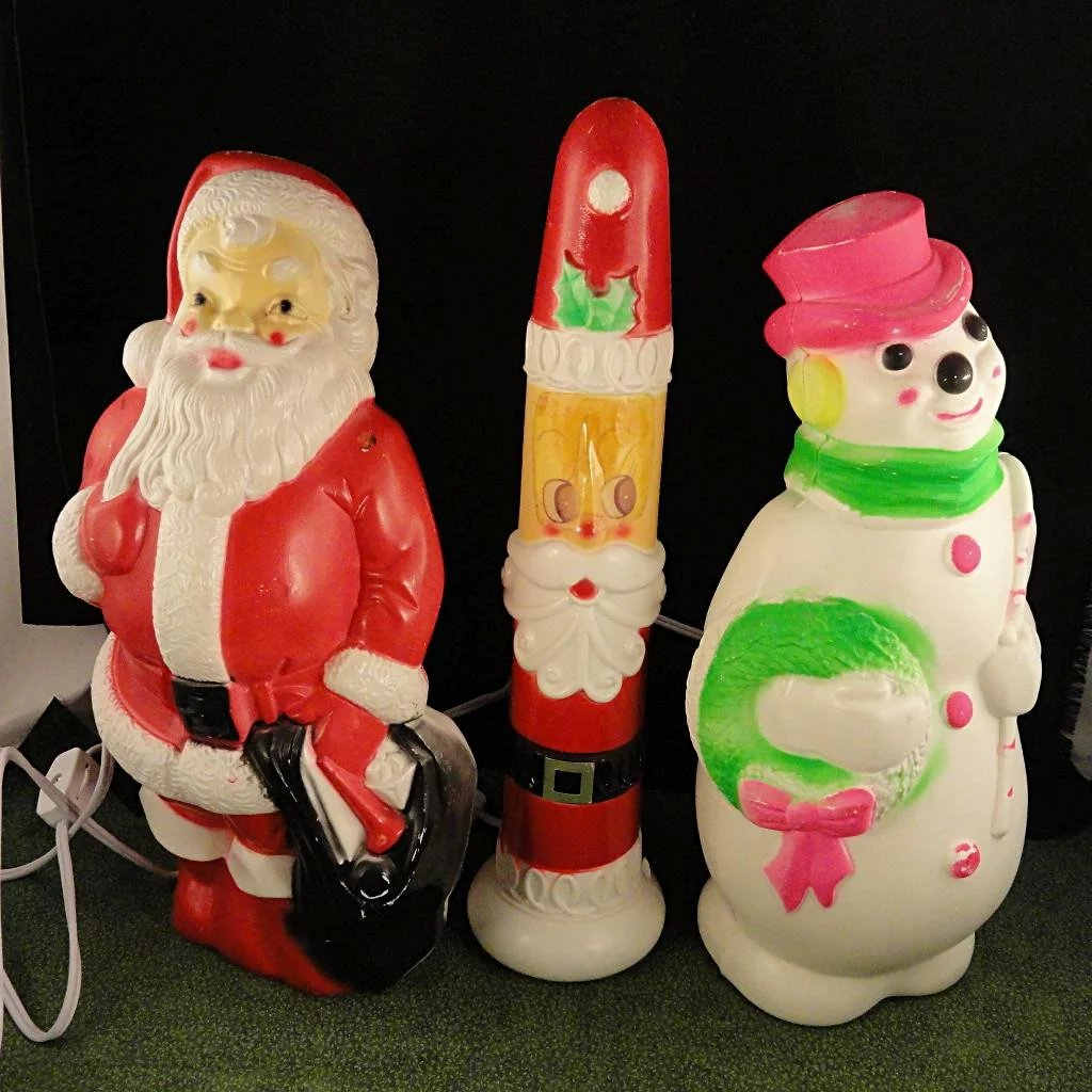 Vintage Blow Mold Christmas Decorations