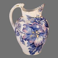 Rare Antique 1888 ALTHEA Aesthetic Staffordshire Transferware Pitcher by Brown Westhead Moore