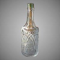 Antique EAPG 1898 MASSACHUSETTS Victorian Crystal Bar Bottle Decanter