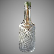 Antique EAPG 1898 MASSACHUSETTS Victorian Crystal Bar Bottle Decanter