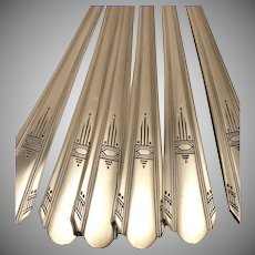 Oneida Wm. A Rogers PARAMOUNT Dinner Place Settings Vintage 1933 ART DECO Silver Plate Silverware Flatware