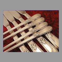 ADORATION Vintage 1939 ART DECO Silver Plate Long Handled Grille Silverware Set You Choose Dinner Service for 4, 8, 12 or 16 by 1847 Rogers
