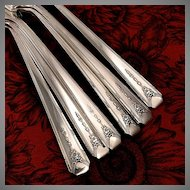 Oneida Community MILADY Flatware Dinner Set 1940 Art Deco Service for 4 Silver Plate Silverware