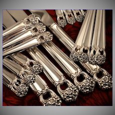 1847 Rogers ETERNALLY YOURS  Silverware Set Vintage 1941 Silver Plate Flatware Dinner Service for 4, 8, 12, 16 or 20