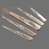 Traditional Dinner Service Morning STAR Floral Silverware Set for 6 Vintage 1948 Silver Plate Oneida Community Flatware