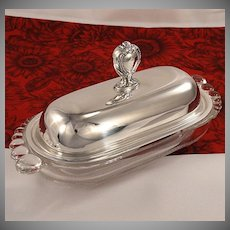 RARE Remembrance BUTTER DISH Vintage 1948 Silver Plate Flatware Silverware by 1847 Rogers Bros International