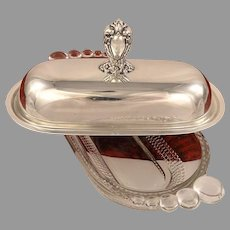HERITAGE Butter Dish Vintage 1953 Silver Plate Flatware Silverware by 1847 Rogers Bros International